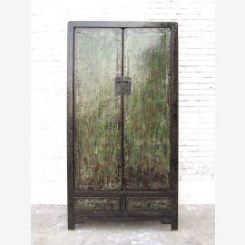 Asie cabinet noir finition Antique Shabby Chic bois de pin