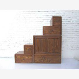 """Chine idéal pour chambres mansardées avec pente des escaliers et des tiroirs de nombreux brun naturel des deux côtés ouvrants du """"Luxury-Park"""""""