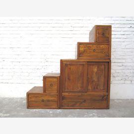 Petites couleurs de bois escaliers Asie Dresser tiroirs Pays style