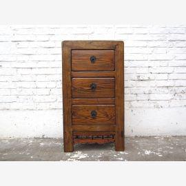 Asie commode table de chevet bois brun antique 100 ans