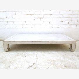 Chine Table Basse 100x50cm antiquewhite utilisé pin massif optique