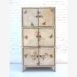 """Chine délicate armoire blanche haute bord bmalter à motifs floraux pin doubles portes du """"Luxury-Park"""""""