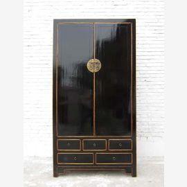 "Chine Classic Raised placard armoire peinte pin noir du ""Luxury-Park"""