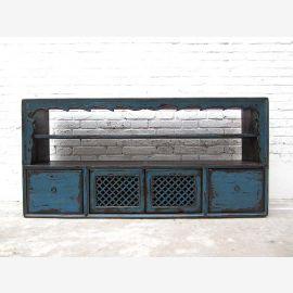 """Mongolie Lowboard commode tiroir pour barre plate bleu pin de style shabby du """"Luxury-Park"""""""