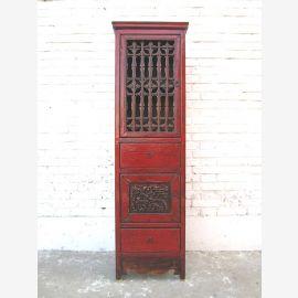 Chine maigre armoire marron classique pin antique 120 ans