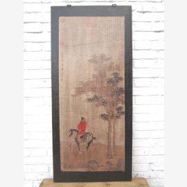 Asie hauteur murale cadre noir antique 85 ans de Beijing