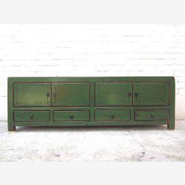 140x38x45cm Chine TV Lowboard Vert Antique Colonial