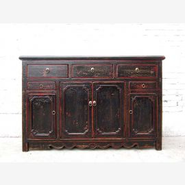 Asie Hebei 1890 Enfilade Chest Buffet traces noires anciennes