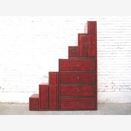 Chine armoire renforcé marron classique escalier commode