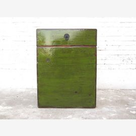 Chine Chest Meuble à chaussures coloration antique vert bois