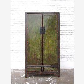 Chine armoire antique finition vert Shabby Chic bois de pin