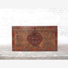 Asie belle poitrine Tibet peinture antique trois intérieurs seulement par le parc de luxe