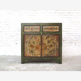 Cat Hygiène commode vert rustique motifs décoratifs Tibet droit d'accès que par le parc de luxe