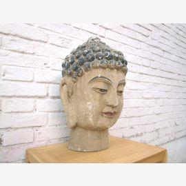 Chine Bouddha buste bois 40 ans