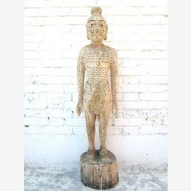 Chine 1940 sculpture de corps de modèle d'enseignement de l'acupuncture homme statue guérison du parc de luxe