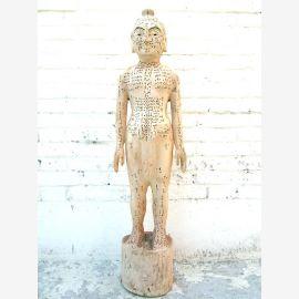 Chine 1930 sculpture de corps de modèle d'enseignement de l'acupuncture homme statue guérison du parc de luxe