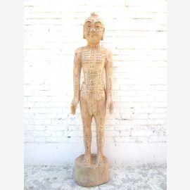Chine modèle 1930 de l'enseignement de l'acupuncture sculpture d'une statue en grandeur nature du Parc mâle médecine du corps de luxe