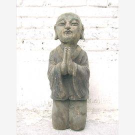 China um 1910 Skulptur betender Moench buddhistische Sakralfigur Pappelholz von Luxury Park