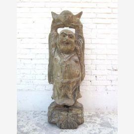 Statue de Bouddha chiffre sculpture avec la couronne de la Chine d'au moins 90 ans du parc de luxe