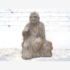 Monk talking assis statue chiffre sculpture peuplier Chine 1910 par le parc de luxe