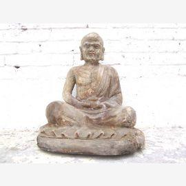 Chine avant 1920 Méditation sculpture moine bouddhiste du parc de luxe peuplier