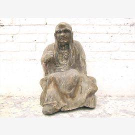 Un moine assis en méditation statue chiffre sculpture peuplier Chine 1910 par le parc de luxe