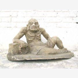 Sculpture vieil homme vieil homme Lazare peuplier bouddhiste environ 80 ans du parc de luxe