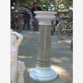 Antique haut pilier pour le parc classique de marbre à deux tons