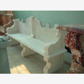 Banc marbre blanc baroque décors classiques Steinmetz