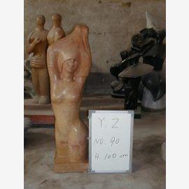 Torse nu sculpture debout en marbre brun moderne classique