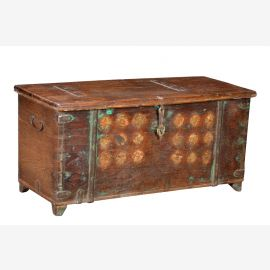 Inde 1960 Chest Box cassettes ornement en filigrane avant Rajasthan