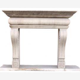 marbre Cheminée «sur mesure» modèle Turin finition antique