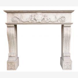 """marbre Cheminée """"sur mesure"""" modèle Monténégro fini antique"""