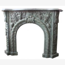 Cheminée en marbre de marbre gris pleine pierre