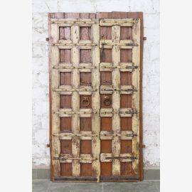 Porte pleine Inde antique en teck VI-ED-016