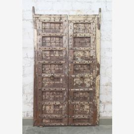 Porte pleine Inde antique en teck VI-ED-017