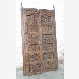 Porte pleine Inde antique Teck VI-ED-020