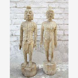 Chine Acupuncture 2 Enseignement figures en bois homme et la femme de médecine de bois