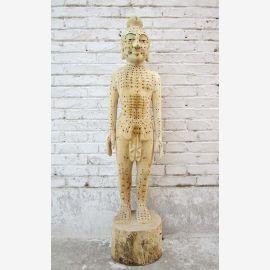Chine Acupuncture Enseignement modèle 1940 corps sculpture homme statue médecine