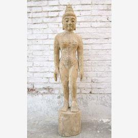 Chine 1940 acupuncture enseignement modèle femme corps sculpture statue médecine