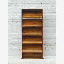 Bibliothèque étagère armoire peuplier 6 tablettes