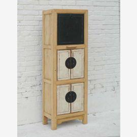 Slim Pine Shelf Cabinet Cabinet Chine