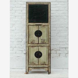 Étagère étroite Pine Chine Cabinet Antique Look