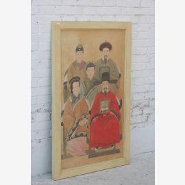 Grande fresque portrait Pine familiale de la Chine