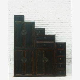 Tangsu angle élevé dégradé sombre poitrine de pin des tiroirs